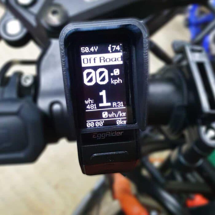 EggRider V2 Bluetooth eBike display Sun Hood Front
