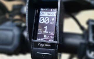EggRider V2 Bluetooth eBike display Sun Hood Side