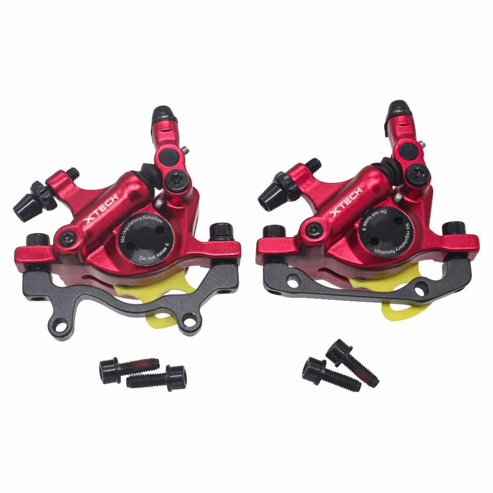 ZOOM XTECH HB100 MTB Line Pulling Hydraulic Disc Brake Calipers RED