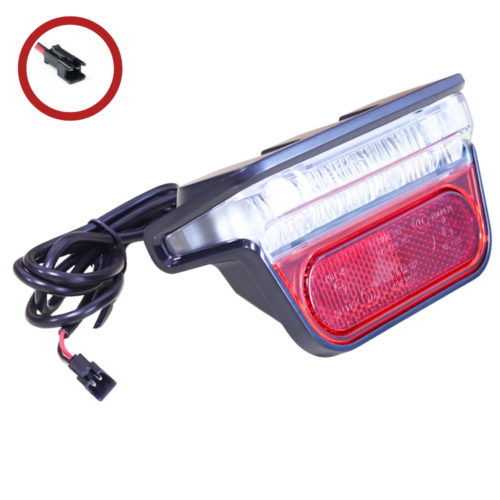 Universal Rear Light with Reflector and brake light function - 6V to 52V (2 Pin SM Connector) MAIN