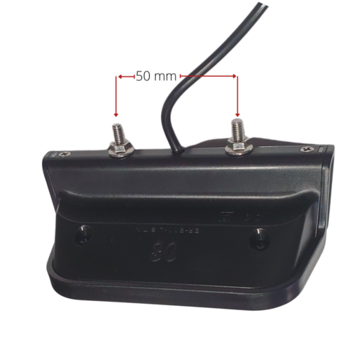 Universal Rear Light with Reflector and brake light function - 6V to 52V (2 Pin SM Connector) MOUNT
